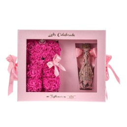 "Toyflower Kit ""Let's Celebrate"" Limited Edition Small Toyflower Φούξια Ροζ Glam Champagne"