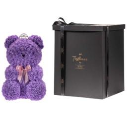 Forever Roses Toyflower Tiffany Blue Με Swarovski Heart 40cm Περιλαμβάνει Και Το Κουτί