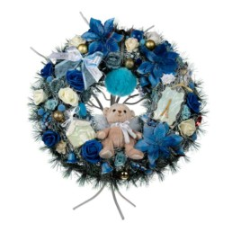 Gifts Wreathe Large 50cm Blue Angel Gift Box Included