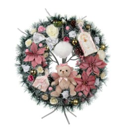 Gifts Wreathe Large 50cm Angel Pink Gift Box Included