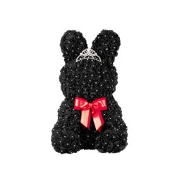 Toyflower Bunny Black With Swarovski Box Included 50cm