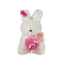 Toyflower Bunny White With Pink Heart Box Included 50cm