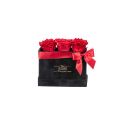 Forever Petite Velvet Μαύρο Κουτί Με Κόκκινα Τριαντάφυλλα