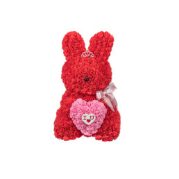 Toyflower New Limited Bunny Red With Pink Heart I Love You(Box Included)