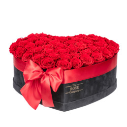 Forever Valentine's Day Best Seller New Velvet Black XL Heart Box