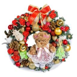 Χριστουγεννιάτικο Στεφάνι - Εργαστήρι- «do it yourself» Διαθέσιμο σε Λευκό, Κόκκινο, Ροζ & Κόκκινο 40cm