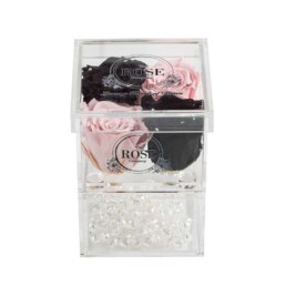 Clear Collection Small Hidden Storage Box Με 2 Ροζ & 2 Μαύρα Forever Roses