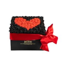 Forever Classic Medium Μαύρο Κουτί Με Μαύρα Τριαντάφυλλα