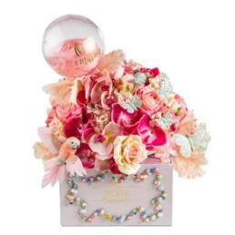 Κουτί Hamper Large ΝΕΟ «One In A Million» Με Τεχνητά Λουλούδια Που Διαρκούν Για Πάντα