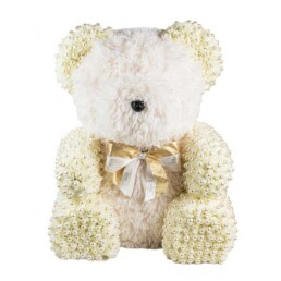 Toyflower XL White New Fluffy With Luxurious Pearls 80cm